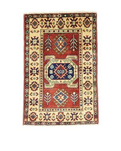 L'EDEN DEL TAPPETO Teppich Annodato A Mano Uzebekistan 60X90 rot/mehrfarbig 60 x 90 cm
