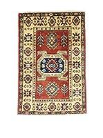 L'EDEN DEL TAPPETO Alfombra Annodato A Mano Uzebekistan 60X90 Rojo/Multicolor 60 x 90 cm