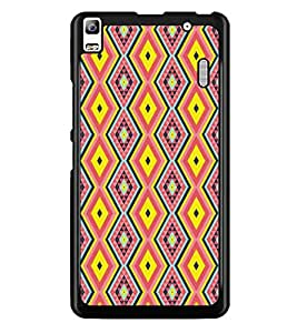 PrintDhaba Pattern D-5224 Back Case Cover for LENOVO A7000 TURBO (Multi-Coloured)
