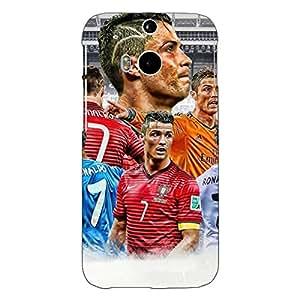 Jugaaduu Cristiano Ronaldo Real Madrid Back Cover Case For HTC One M8