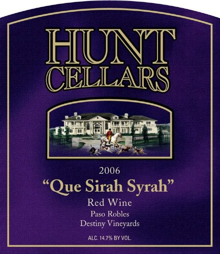 2006 Hunt Cellars 'Que Sirah Syrah' Red Wine, Paso Robles 750 Ml