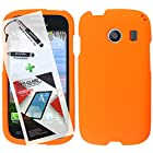 3 in 1 Bundle Samsung Galaxy Ace Style S765C Rubberized Protective Case Cover Skin - Orange with Free Ultra-Sensitive Stylus Pen and Premium Screen Protector by BeautyCentral TM
