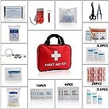 Eggsnow (エグスノー) 救急セット 家庭 職場 アウトドア等応急処置セット19種類 白十字バッグ アップグレード版