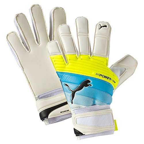 Guanti da portiere PUMA ultima Grip 2,3 RC, white/Atomic Blue/safety Yellow, 7,5, 041222 01