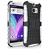 myLife Ultra Black and Smokey White {Rugged Design} Two Piece Neo Hybrid (Shockproof Kickstand) Case for the All-New... by myLife Brand Products