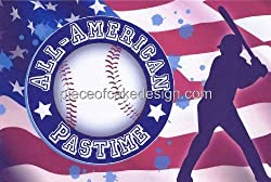 All-American Pastime Edible Image Cake Topper