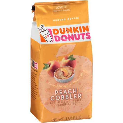Dunkin' Donuts Peach Cobbler Ground Coffee, 11 Oz (Pack Of 2)