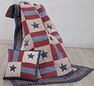 Covington Patriotic Americana Throw Quilt