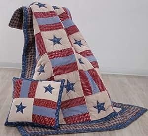 Covington Patriotic Americana Throw Quilt