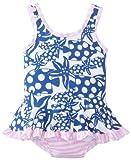 Flap Happy Baby-Girls infantil Ruffle traje, diseño de lunares Tide, 24Meses Color: Tamaño Polkadot Tide: 24Meses (Baby/Babe/Infant-Little Ones)