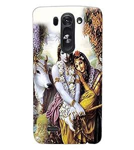 ColourCraft Lord Radha Krishan Design Back Case Cover for LG D722K