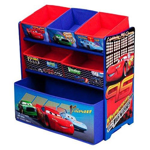 Car Toy Organizer : Disney pixar cars multi bin toy box organizer storage