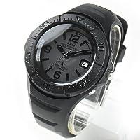 シチズン CITIZEN Q&Q 電波ソーラー メンズ 腕時計 アナログ ラバーベルト 電池交換/時刻修正不要 10気圧防水 クロス別注オリジナルカラー 独占販売 hg10-904 オールブラック