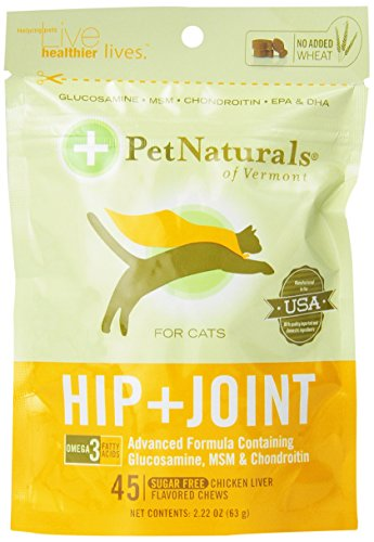 Pet Naturals Hip & Joint for Cats (45 count) (Vermont Naturals Hip And Joint compare prices)