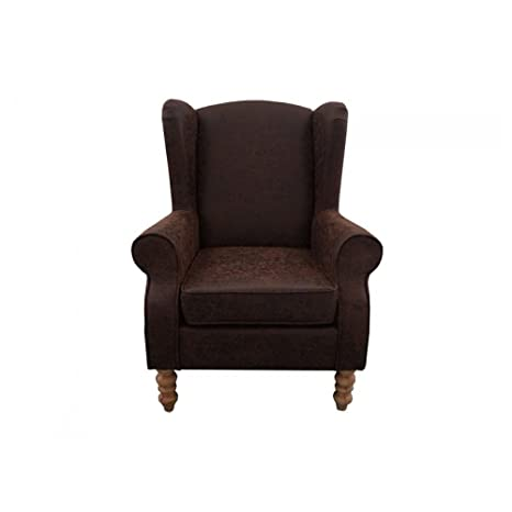 Poltrona marrone wingback