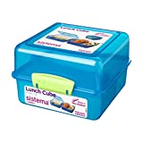 Sistema Lunch Cube Colored Lunch Box, 1.4 Litres