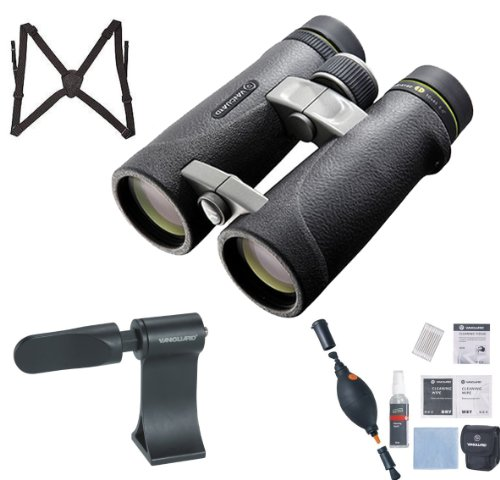 Vanguard Ed 1045 Endeavor 10.5X45 Binocular (Black) + Vanguard Binocular Harness + Vanguard Ck6N1 6-In-1 Cleaning Kit + Vanguard Ba-185 Binocular Tripod Adaptor