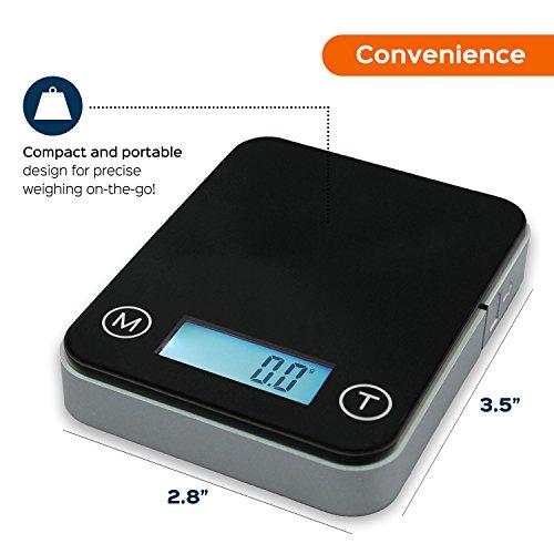 Smart Weigh Balance numérique de poche de haute précision 100g x 0.01g avec un étui de transport