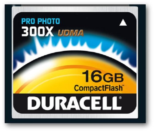 16GB Duracell Digital Compact Flash 300X Memory Card Ideal for Photography
