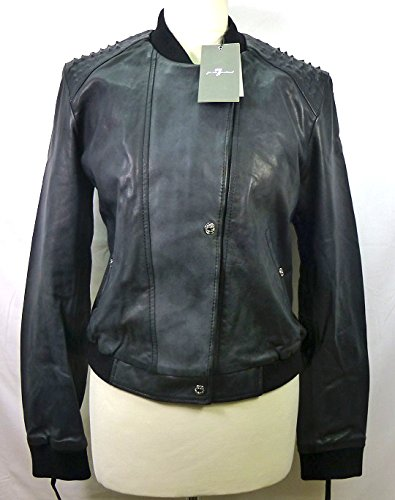 7-for-all-mankind-cazadora-piel-bomber-bomber-negro-m