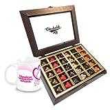Chocholik Luxury Chocolates - Stylish Personalised Love Chocolates With Love Mug