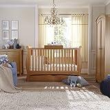 BAILEY OAK 3 PIECE NURSERY FURNITURE SET (Cot Bed, Wardrobe, Drawers)
