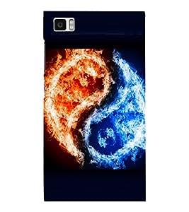 printtech Chinese Yin Yang Fire Ice Back Case Cover for Xiaomi Redmi Mi3::Xiaomi Mi 3