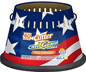 Cutter 95993 20-Ounce Citro Glow Holiday Triple Wick Citronella Insect Repellent Outdoor Candle