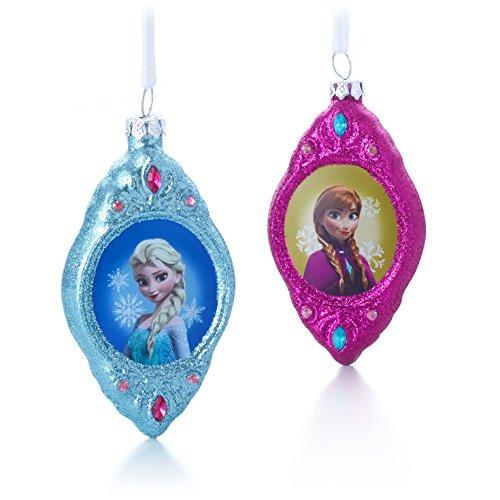 Elsa and Anna Ornaments, Set of 2