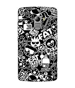 small candy 3D Printed Back Cover For Lenovo k4 note -Multicolor pattern