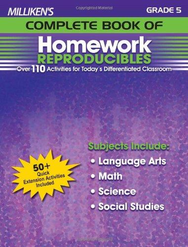 Milliken's Complete Book of Homework Reproducibles - Grade 5 (Milliken Publishing Company compare prices)