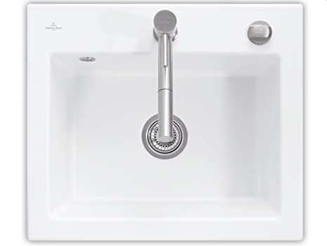 Villeroy & Boch metro 60 S lavar los fregaderos de cerámica blanca y plana edelweiss