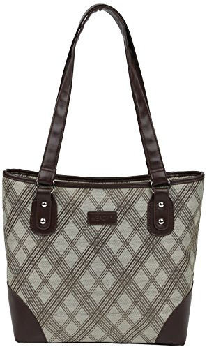 Sachi Classic Insulated Lunch Tote, Style 155-243, Tan Plaid - 1