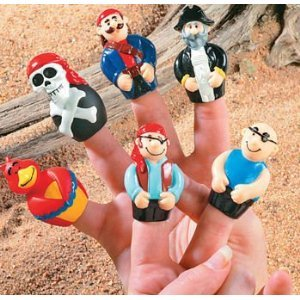 Click to buy Pirate Birthday Party Ideas: Pirate Finger Puppets from Amazon!