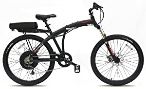 Prodeco V3 Phantom X2 8 Speed Folding Electric Bicycle, Matte Black, 26-Inch/One Size from Prodeco Technologies