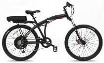 Prodeco V3 Phantom X2 8 Speed Folding Electric Bicycle, Matte Black, 26-Inch/One Size