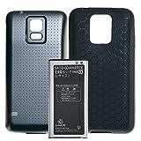 Sato Commerce GALAXY S5 SC13 SCL23UAA 互換バッテリー Lサイズ ( SC-04F / SCL23 / i9600 / G900 / G900F / G900I ) 3.8V 5600mAh + TPUケース (ブラック)