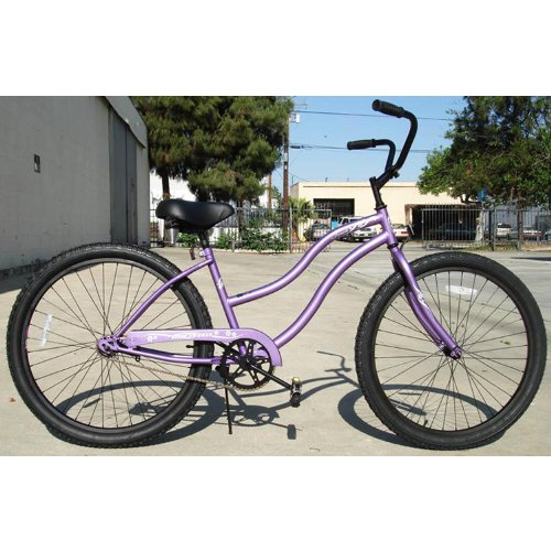 Micargi Touch, purple, women's 1-speed Beach Cruiser Bike Schwinn Nirve Firmstrong Style