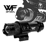 WF Optical タクティカルライト(高輝度LED)+マウントリング(20㎜レイル対応) ウエポン/フラッシュライト