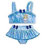 Disney Store Princess Cinderella Swimsuit: Deluxe 2-Piece Bikini Size Medium 7/8