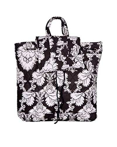 Home Essentials and Beyond Emma Backpack, Black/White