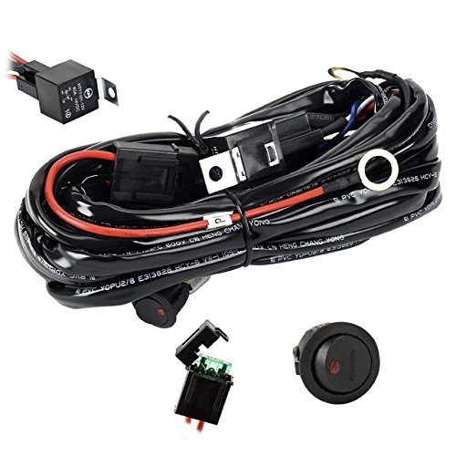 Eyourlife 12V 40A Off Road LED LIGHT Bar On Off Power Switch Relay Wiring Harness (Off Road Lights Bar compare prices)