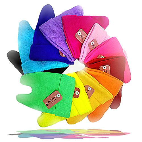 コットン ベビー ニット帽 【豊富な12色からお好きな色を選択】 ネコ耳 ボウシ ニット帽 子供帽子 赤ちゃん 素材 お出かけに (10.リーフグリーン)