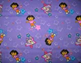 SheetWorld Fitted Pack N Play (Graco Square Playard) Sheet - Dora Purple - Made In USA