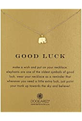 Dogeared Reminder Good Luck Elephant Pendant Necklace