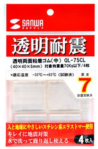 SANWA SUPPLY transparent double-sided adhesive rubber (inside) QL-75CL