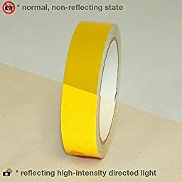 JVCC REF-7 Engineering Grade Reflective Tape: 1 in. x 30 ft. (Yellow)