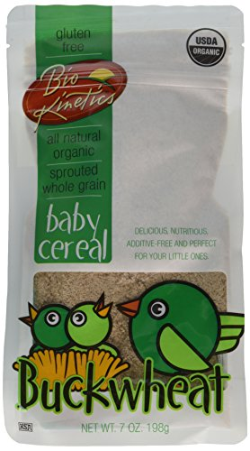 Organic Buckwheat Baby Cereal Made with Sprouted Whole Grain Buckwheat, 7 Oz. (198 g) - 2 Pack - 1