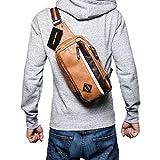 (Marib select) ボディバッグ 斜めがけバッグ マチが広くて定番フォルム カラーライン入り ワンショルダー メンズ 鞄 カバン (5カラー)