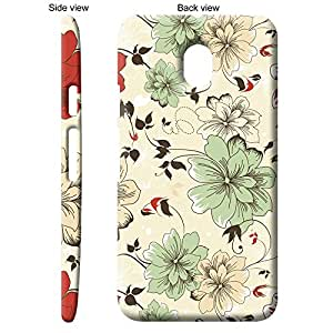 TheGiftKart Floral Colored Sketch Back Cover Case for Motorola Moto G3 3rd Gen - Multicolor
